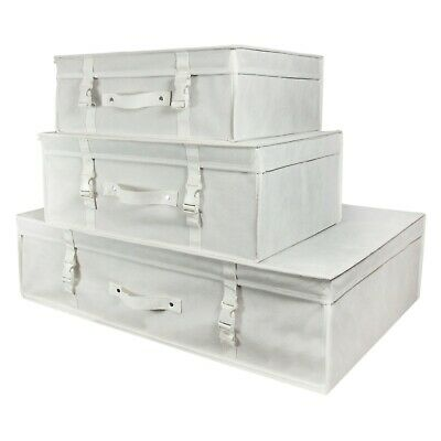 White Wedding Dress Storage Box Bridal pH Neutral Travel Carry Case Hangerworld