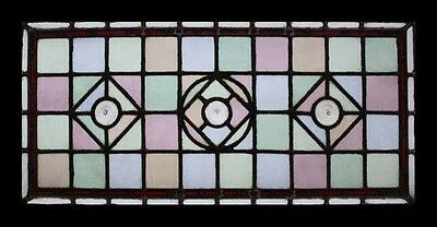 Victorian English Classic Antique Stained Glass Window