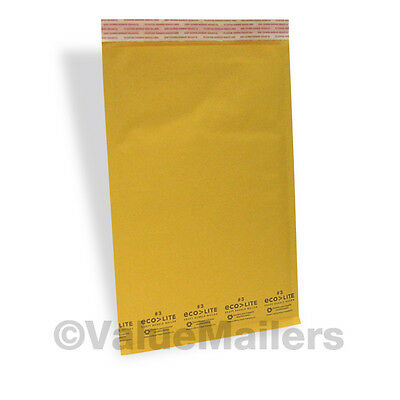 1,000 #3 8.5x14.5 Kraft ^ Bubble Mailers Padded Envelopes Mailer Bags Ecolite