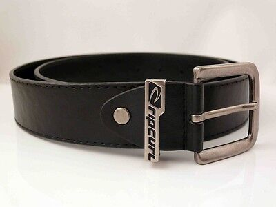 Ripcurl Mens Black Dress Belt  Size   L  Bonded Leather  New