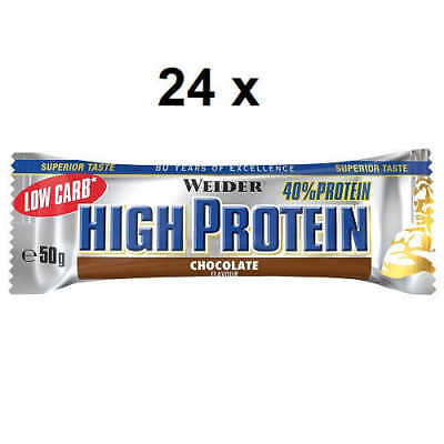 Weider Low Carb 27,12€/kg High Protein Bar 25 x 50g Riegel Eiweiss Lowcarb