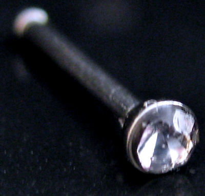Bulk Lot 10 Clear Rhinestone Nose Studs 316L S/Steel