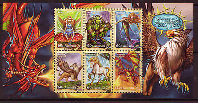 AUSTRALIA 2011 MYTHICAL CREATURES MINIATURE SHEET UNMOUNTED MINT, MNH