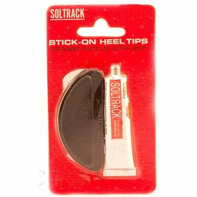 Heel Tips in Black Kit for DIY Shoe Repairs by Soltrack