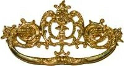 Discontinued- Victorian Cast Brass Drawer  Pull  B0690
