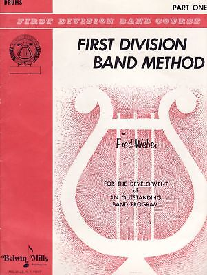 "Belwin Mills ""First Div. Band Method: Drums"" Songbook"