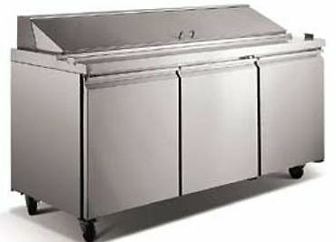 "72""    3  Door Refrigerated Sandwich Prep Table - Brand New"