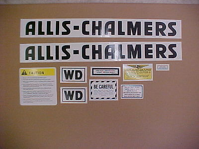 Decal set for Allis Chalmers WD decal set, TRACTOR