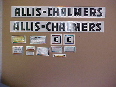 Decal set for Allis Chalmers C decal set, TRACTOR