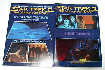 Vintage Star Trek III Search for Spock Paperback Book Set of 2