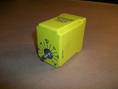 120V, 1.8 to 180 Seconds Potter /& Brumfield CDB 38-70015 Timing Relay w// Base