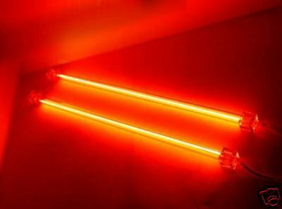 """RED 12"""" DUAL COLD CATHODE LIGHT KIT CCFL ULTRA BRIGHT PC COMPUTER LOGISYS"""