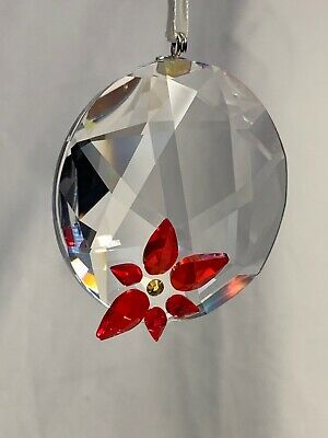 SWAROVSKI poinsettia window ornament 905214