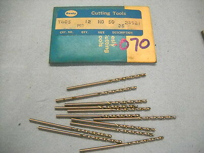 10 NEW BESLY TAPER LENGTH DRILLS #60 .040 HSS USA 1180