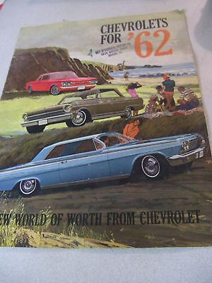 Rare Chevrolets for 1962 14 Page Brochure