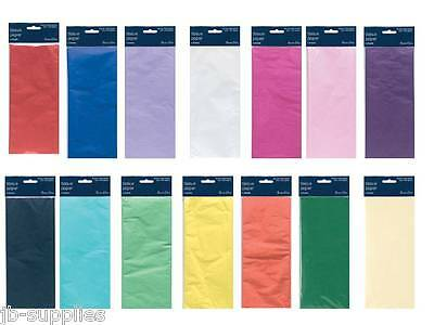 TISSUE PAPER 10sheets (2 Packs of 5) 75cm * 50cm VARIOUS COLOURS WRAPPING CRAFT