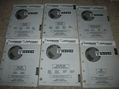 1992 EVINRUDE JOHNSON Outboard Parts Catalog 4 HP J - $9 99
