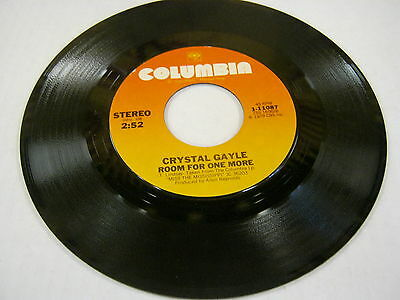 Crystal Gale Room For One More/Half The Way 45 RPM Columbia Records