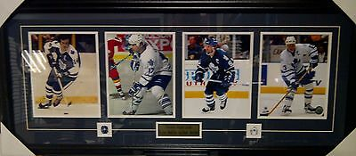 Vintage Toronto Maple Leafs NHL Hockey 4 Captains Photo Framed Collage 43x18
