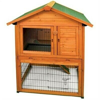 NEW LARGE BUNNY RABBIT & GUINEA PIG HUTCH PET ANIMAL PEN CAGE BARN HOUSE