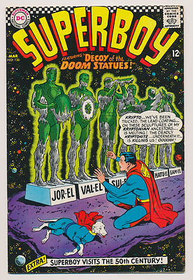 SUPERBOY #136 F, In the 50th Century, Krypto, Superman, DC Comics 1967