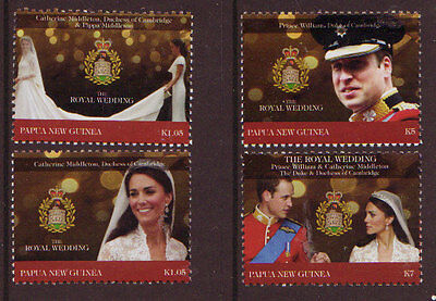 Papua New Guinea 2011 William And Catherine Set Of 4 Unmounted Mint, Mnh