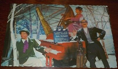 Vintage Postcard Marx Brothers Wax Museum Calif Groucho