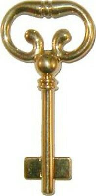 Blank Key for Roll Top Desk Lock - Solid Brass  B1977