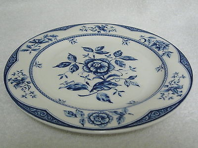 """Brunelli Blue White 8.5"""" Plate Tiffany Floral Pattern Italy"""