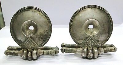 Antique Collectible Ethnic Tribal Old Silver Earplug Earring India
