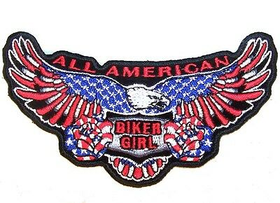 DEVIL HORN IRON CROSS  EMBRODIERED PATCH P493 biker iron on sewon patches new