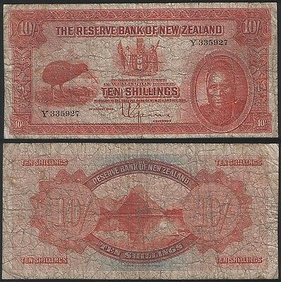 New Zealand P 154 - 10 Shillings 1934 - Look at the picture