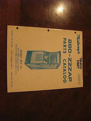 Midway's 1976 280-Zzzap Arcade Video Game Parts Catalog
