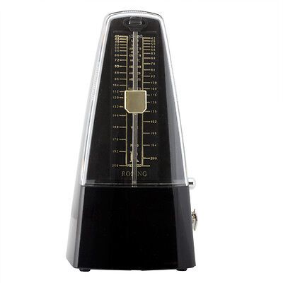 Traditional Wind Up Mechanical Pyramid Shape Metronome in Black - MM-SBlack