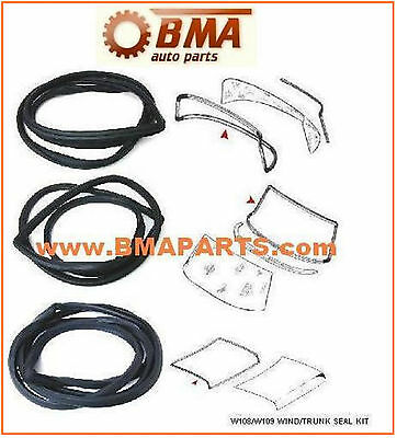 Mercedes FT/RR. WINDSHIELD/TRUNK SEAL KIT for Ch. W108 W109