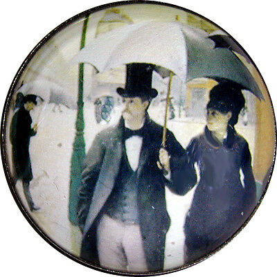 Crystal Dome Button London Street Scene - Fine Art Series  235 FREE US SHIPPING