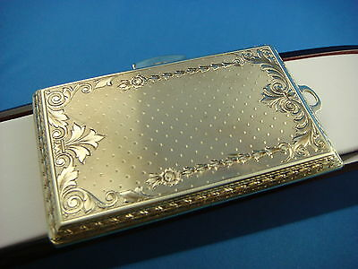 ANTIQUE LARGE 14K GOLD BOX HAND-ENGRAVED UNIQUE 54.8 GRAMS 3 x 2 INCHES