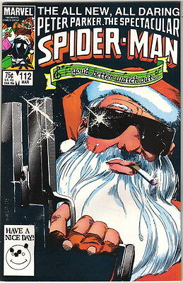 The Spectacular Spider-Man Comic Book #112, Marvel 1986 NEAR MINT