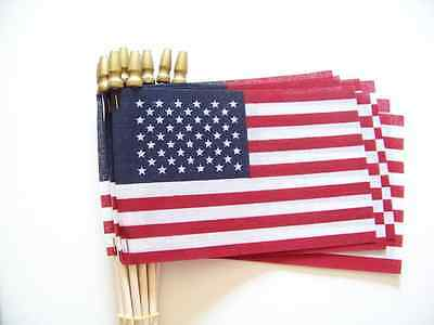 30PCS USA American Flags Hand Held Mini Stick Flags Party Olympics Festival Desk