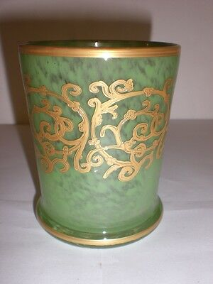 Arte Italica green Tumbler with gold  Accents NEW IN BOX
