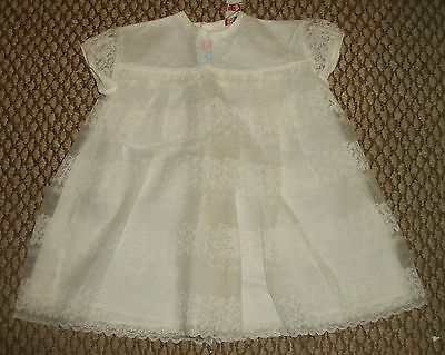 Md Ltd ~ Vintage Baby Girl Christening Dress ~ 52 Years Old