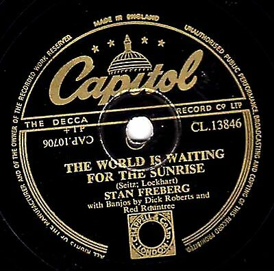 Stan Freberg Comedy 78 World Is Waiting For The Sunrise /Boogie Woogie Banjo Man