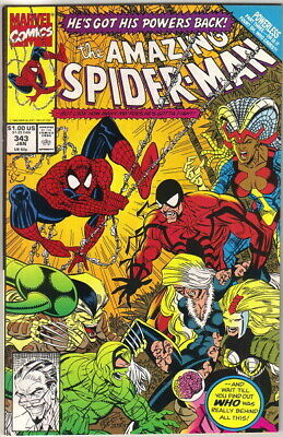 the Amazing Spider-Man Comic Book #343, Marvel 1991 NEAR MINT