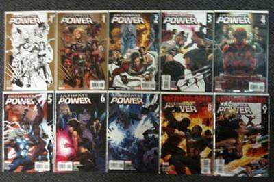 Ultimate Power #1-9 + #1 Variant Complete Comic Series