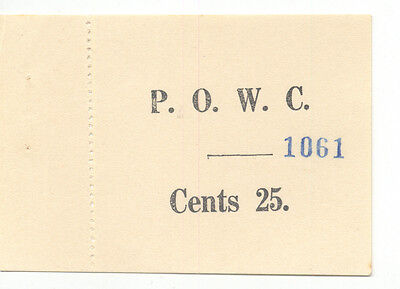 Kenya WW2 POW Camp Lionandi 25 Cents Campbell 5410  UNC held Italian POWs SCARCE