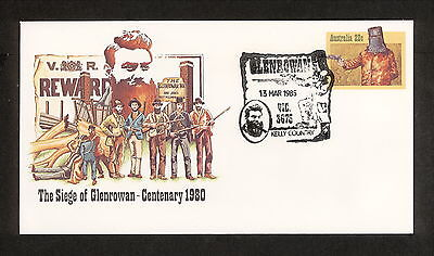 1985 APM15961.1-01 NED KELLY SEIGE OF GLENROWAN Pictorial Postmark (2924)