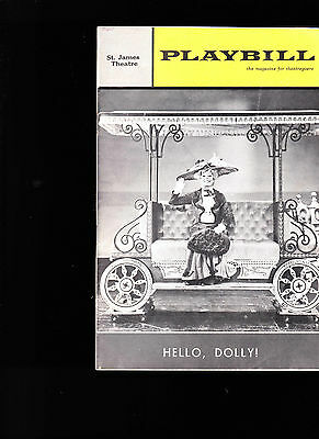 June 1965 Playbill- Hello Dolly! with Carol Channing