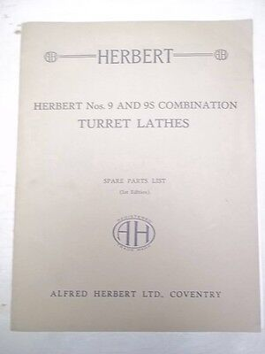 Alfred Herbert 9/9S Turret Lathe Parts List/Manual
