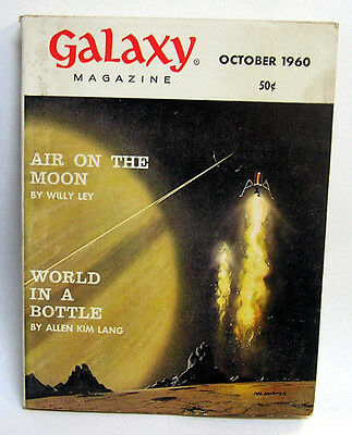 Oct 1960 GALAXY Science Fiction Pulp Digest Magazine- Willy Ley