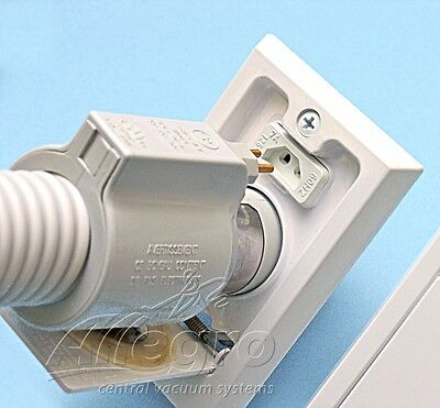 3 Central Vacuum Supervalve Direct Connect Electrified Inlet Valve Vac Port